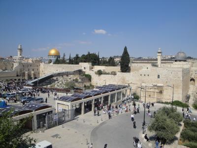 Dome des Rochers et mosquee Al Aksa